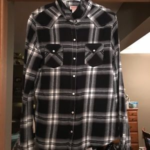 Mossimo Supply black and white flannel